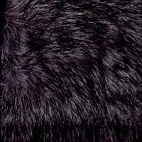 Faux Fur Black Fox