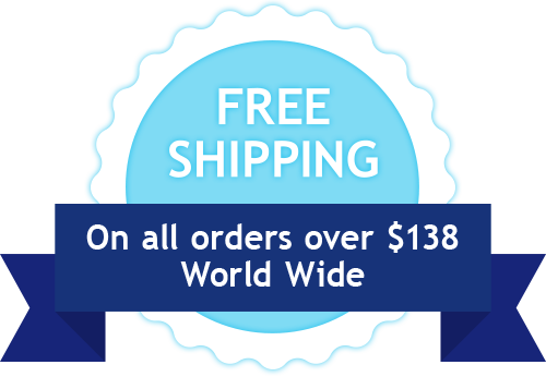 Free shipping for orders over $138 world wide